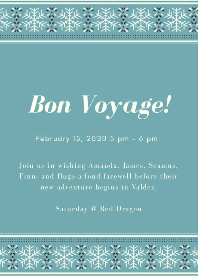 BON VOYAGE PARTY TO THE WEISE FAMILY