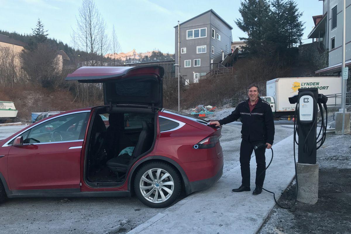 Tesla at Cordova Center New Lower Lot EV Charging Station