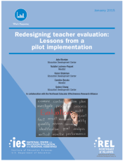 redesigning teacher eval