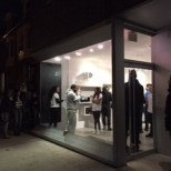 Outside the OVO Store in Toronto on opening night