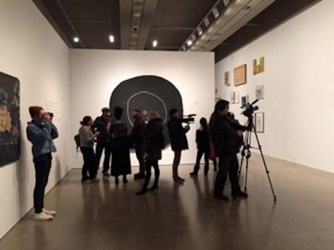 Media event at Basquiat