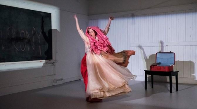 Sara Porter in billowy dress