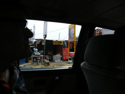 View from the car - stalls