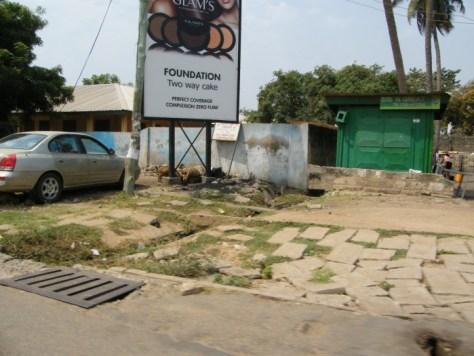 A billboard advertising foundation