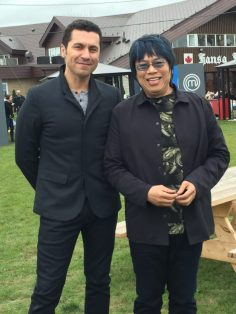 MasterChef Canada judges Claudio Aprile and Alvin Leung. Photo: Cherryl Bird