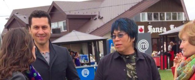 MasterChef Canada judges Claudio Aprile and Alvin Leung.