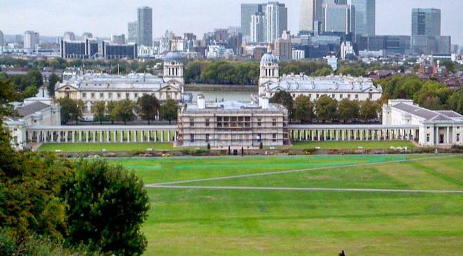 The Centre of Time Runs Through Greenwich Park in London