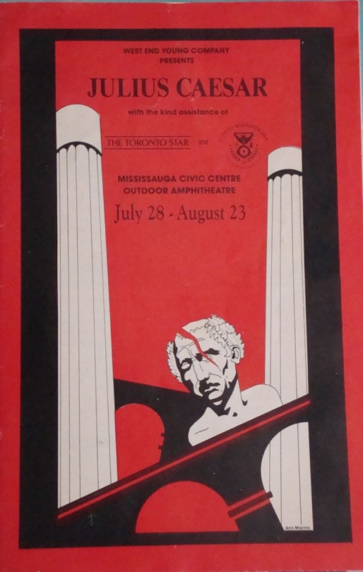 Poster of Jonathan Davies and Rob Costigan's production of Julius Caesar