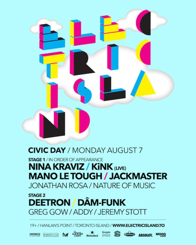 Portlands hosts Electric Island Civic Holiday event on Aug. 7.