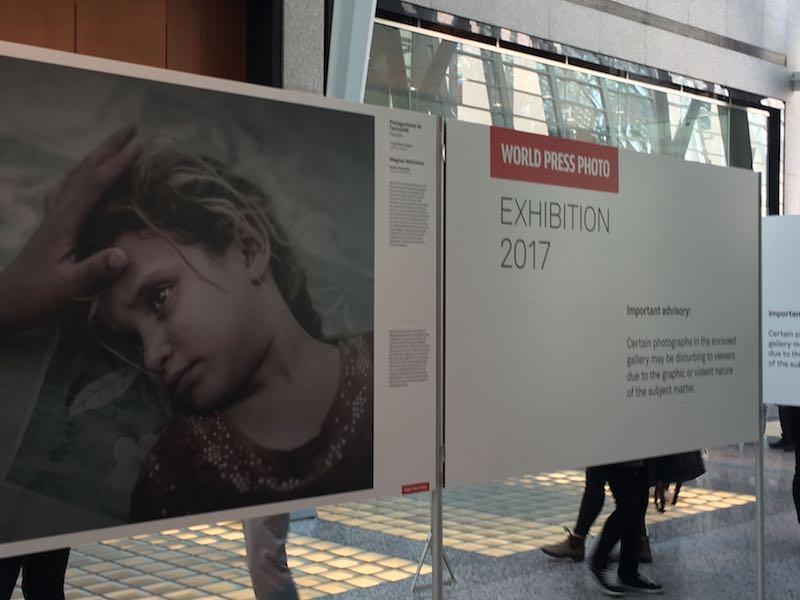 An exhibition of the World Press Photo 2017 winners. Photo: Cherryl Bird