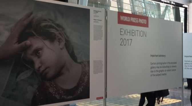 An exhibition of the World Press Photo 2017 winners. Photo: Cherryl Bird