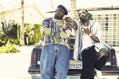 """UNSOLVED: THE MURDERS OF TUPAC AND THE NOTORIOUS B.I.G. -- """"Pilot"""" -- Pictured: (l-r) Marcc Rose and Wavyy Jonez (Photo by: James Minchin III/USA Network)"""