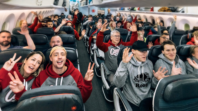 Roots x Air Canada