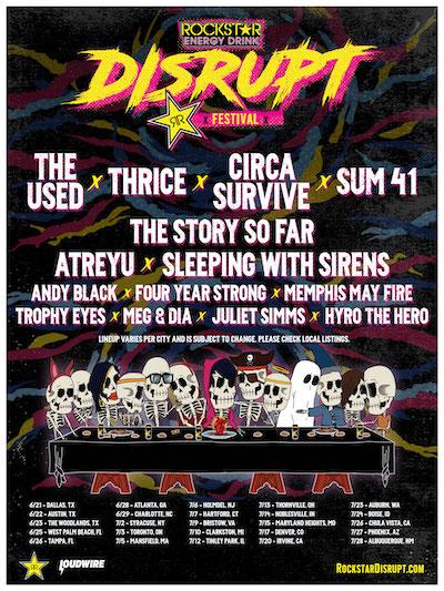 Rockstar Energy Drink Disrupt Festival poster