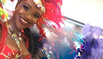 A smiling face of one of the Toronto Caribbean Carnival representatives. Photo by Cherryl Bird