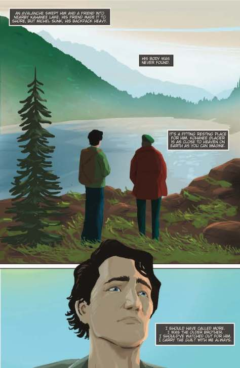 """Comic strip from """"Political Power: Justin Trudeau"""""""
