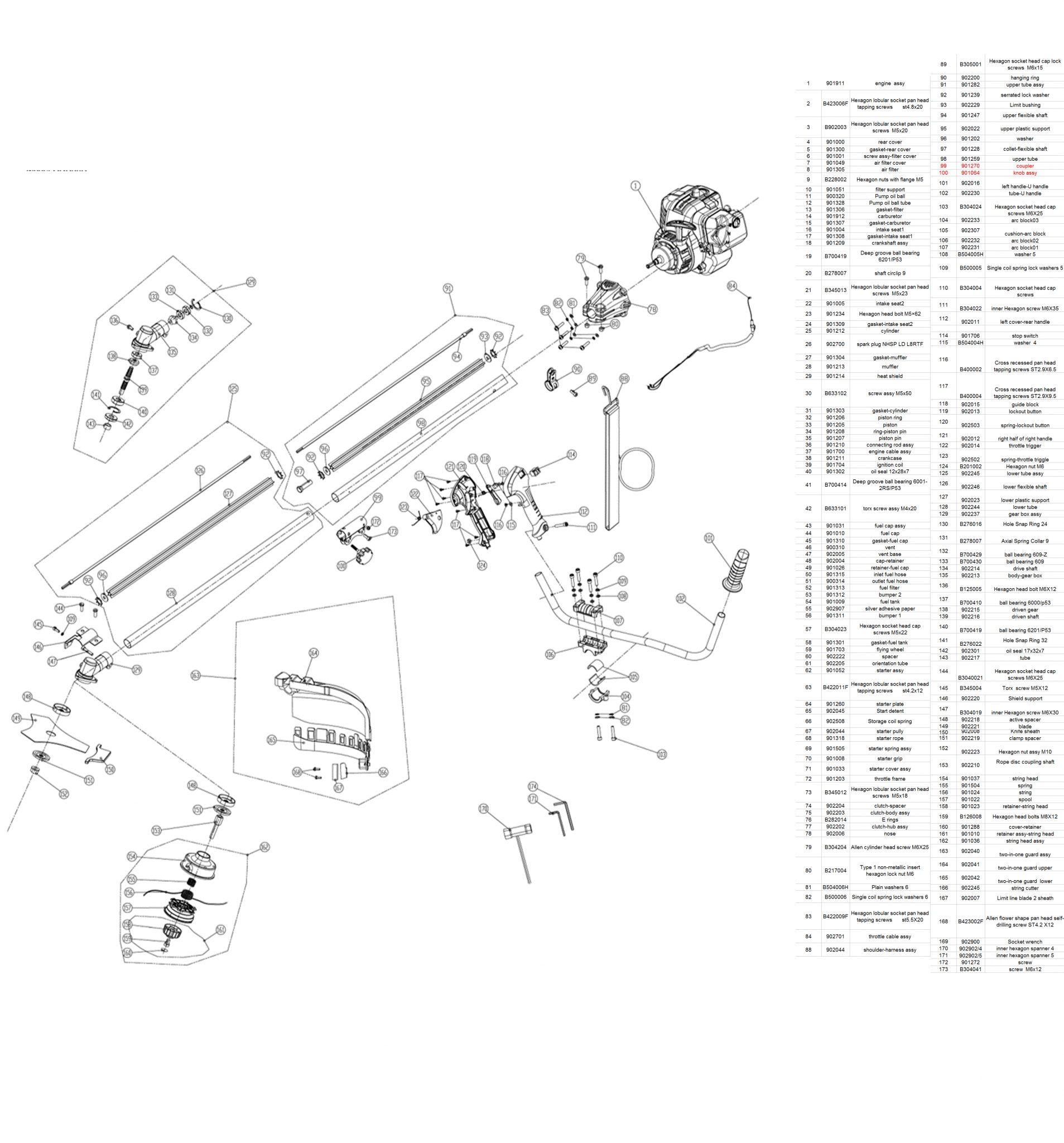 Qualcast 29 9cc Petrol Brush Cutter
