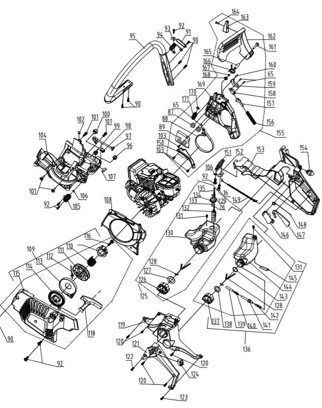 Gardenline 45cc Petrol Chainsaw