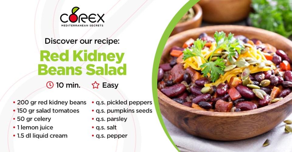 Red kidney beans salad