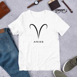 Sci-fi zodiac unisex white t-shirt Aries