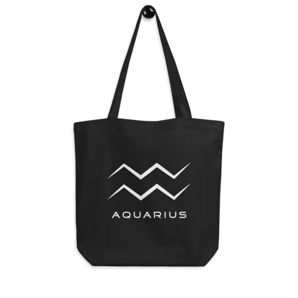 Sci-fi zodiac collection Aquarius eco tote bag hanging