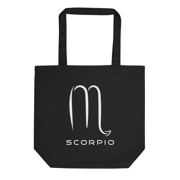 Sci-fi zodiac collection Scorpio eco tote bag front