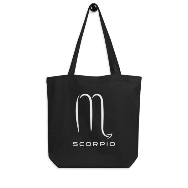 Sci-fi zodiac collection Scorpio eco tote bag hanging