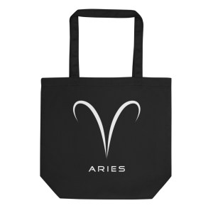 Sci-fi zodiac collection Aries eco tote bag front