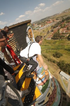 Corey Wood Bungee jumping in Soweto
