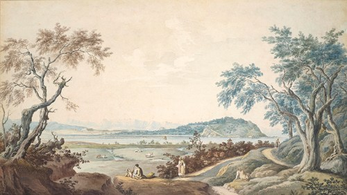 Joseph Cartwright - View of Kanoni from Lake Chalikiopoulou