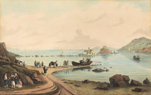 Joseph Cartwright - View of Pontikonisi, Corfu