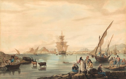 Joseph Cartwright - View of the Corfu Town from Vido