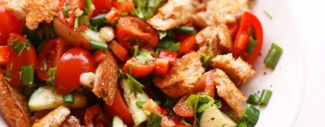 Juicy Panzanella - Tuscan Tomato & Bread Salad