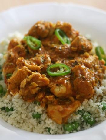 curry de pui cu orez din conopida