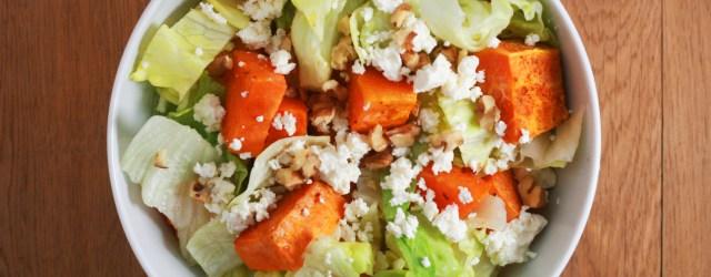 salata de cartofi dulci cu branza feta si nuci