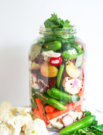 Homemade Pickled Veggies