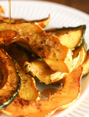 Roasted Squash With Maple Syrup, Cinnamon & Nutmeg