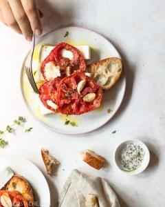 Roasted Tomatoes & Feta Toast