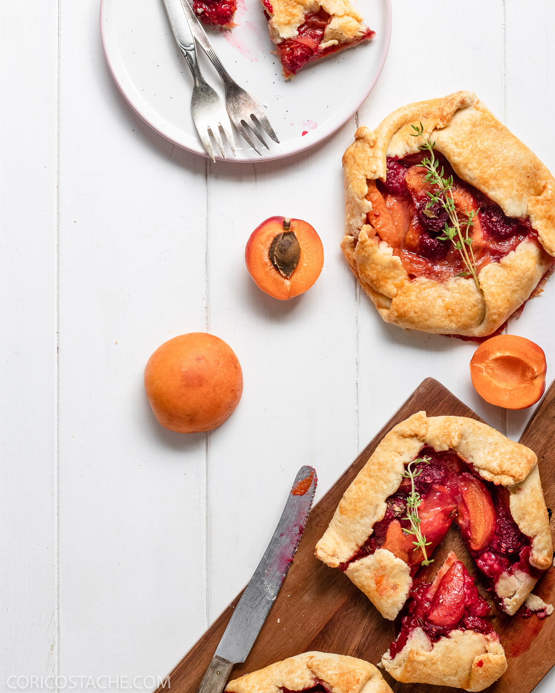 Mini Summer Galettes with Apricots and Raspberries