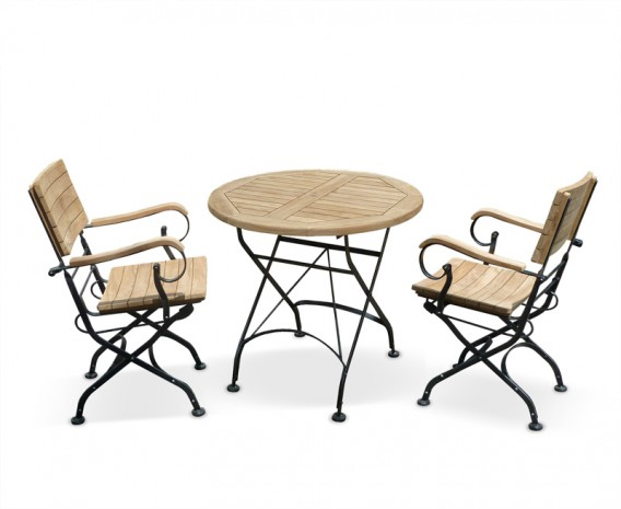 garden bistro table and 2 arm chairs outdoor patio bistro dining set