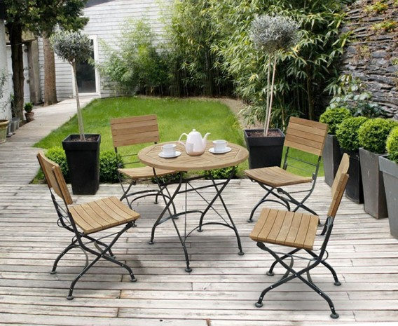 bistro round table and 4 chairs patio outdoor bistro dining set