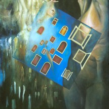 "Escape —Oil on linen —40"" x 54"" — 2003 — $5,000"