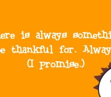 Thoughts on Being Thankful
