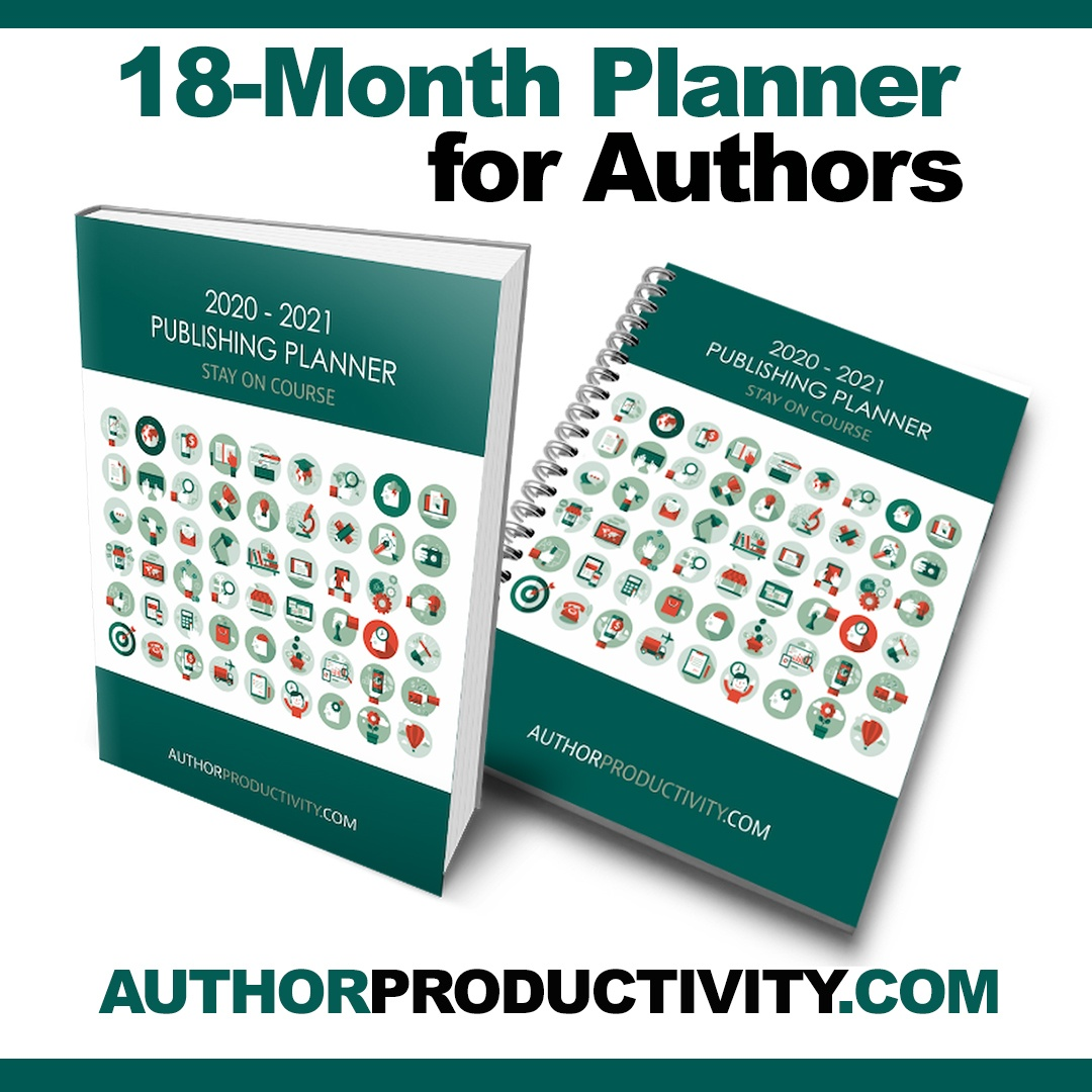 author planner image, coil and perfect bound