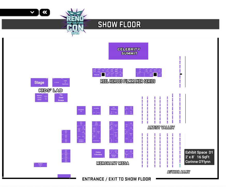 Reno Show Floor Map