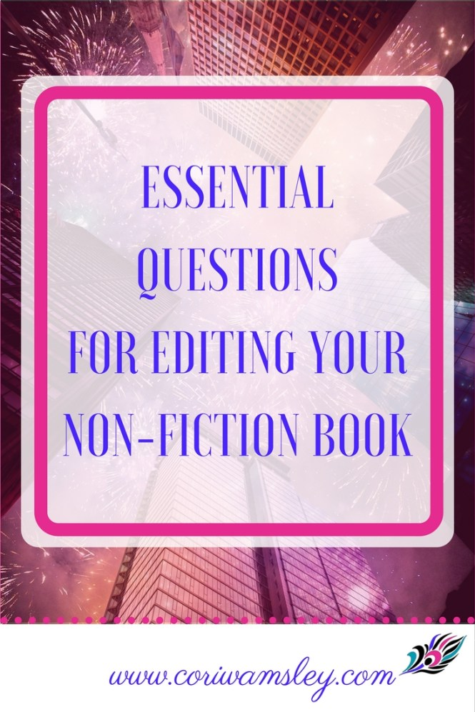 Essential Questions for Editing Your Non-fiction Book
