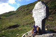 The memorial to the victims in Doolough valley