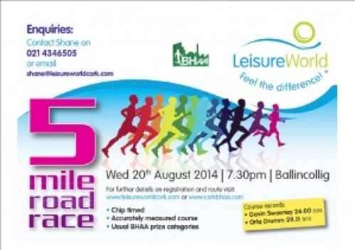 LeisureWorld BHAA 5 Mile 20th August 2014