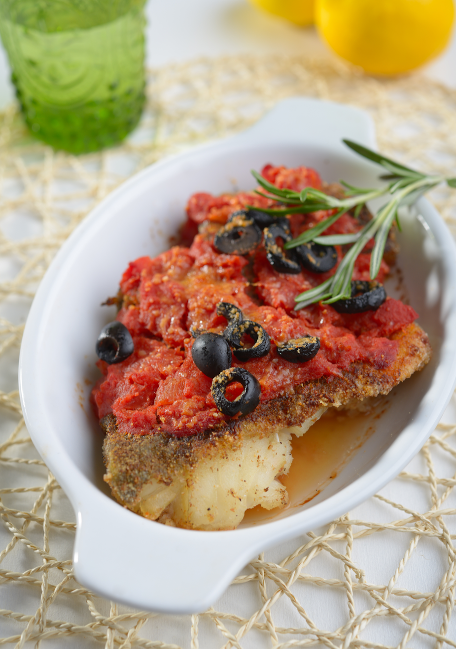 Baked Fish Tomato and Olives