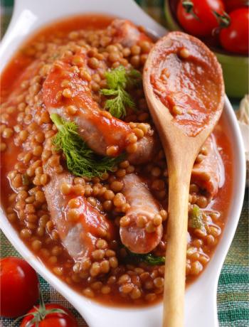 Salsiccia con Lenticchie